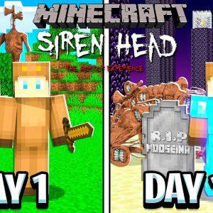 I Survived 100 Days with SIREN HEAD in MINECRAFT!