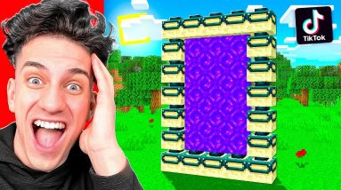 Testing 10 VIRAL TIKTOK MINECRAFT HACKS in 2021! **THEY WORKED**