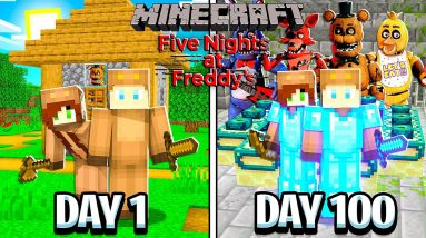 I Survived 100 Days with FNAF ANIMATRONICS in MINECRAFT with GIRLFRIEND!