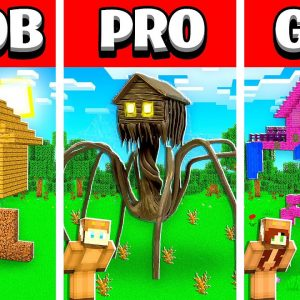NOOB vs PRO vs GIRL FRIEND Minecraft HOUSE HEAD House Build Battle! (Building Challenge)
