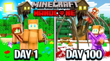 I Survived 100 Days inside HOUSE HEAD in MINECRAFT with GIRLFRIEND!