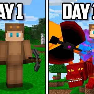 I Survived 100 Days of MODDED Hardcore Minecraft...