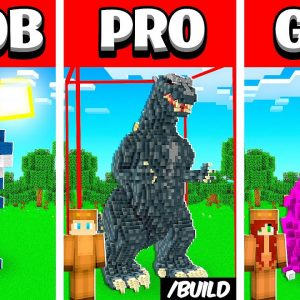 I used AUTO BUILD MOD in NOOB vs PRO vs GIRL to win $1000 in Minecraft!
