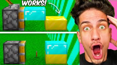 Testing VIRAL Minecraft GLITCHES To See If They Work!