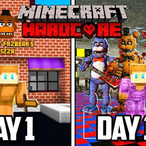 I Survived 100 Days of HARDCORE Minecraft in FIVE NIGHTS AT FREDDY'S... Here's What Happened