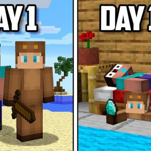 100 Days of PRANKING in Minecraft!