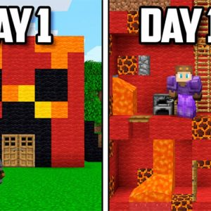 I Survived 100 Days inside PRESTONPLAYZ HOUSE in Minecraft...