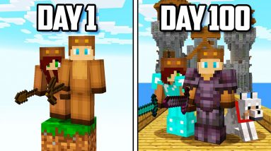 I Survived 100 Days of ONE BLOCK in Minecraft...