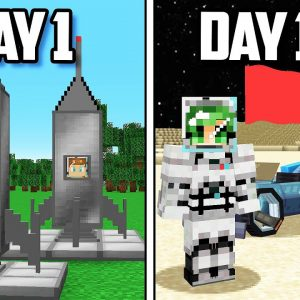 I Survived 100 Days on the MOON in Minecraft!