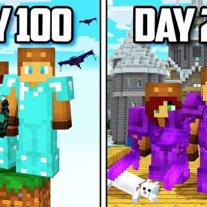 I Survived 200 Days of ONE BLOCK in Minecraft... (Part 2)