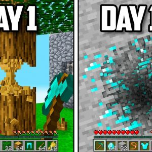 I Survived a 100 Days with Realistic Physics in Minecraft!