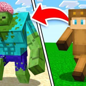 Minecraft, But Zombies Are 1000x Stronger and Smarter... (With Unspeakable)