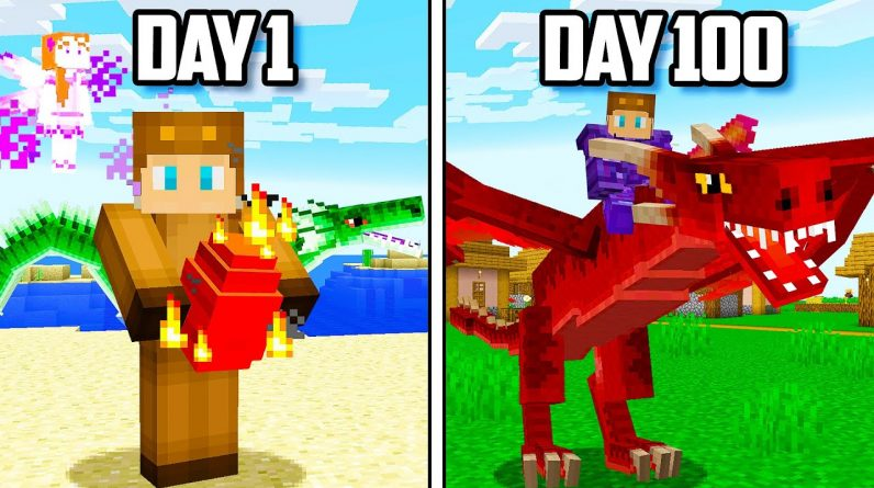 100 days with DRAGONS in Minecraft!