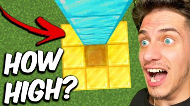 How HIGH Can You Fall in Minecraft? #shorts