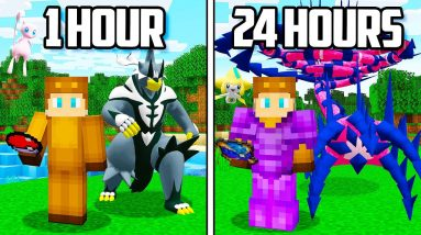 I Spent 24 HOURS in Minecraft POKEMON!