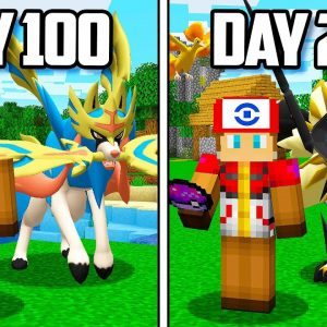 I Survived 200 Days in Minecraft POKEMON!