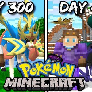I Survived 400 Days in Minecraft Pokemon!
