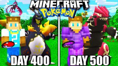 I Survived 500 Days in Minecraft Pokemon!