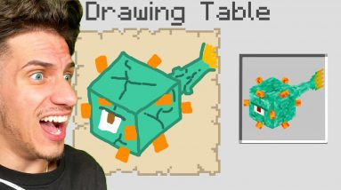 Minecraft, But You Can Draw Mobs!