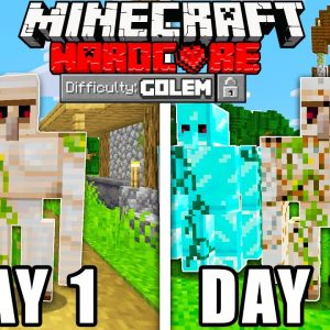 I Survived 100 Days As a Iron Golem in Minecraft!