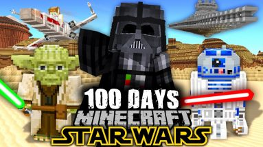 I Survived 100 Days in Minecraft STAR WARS!