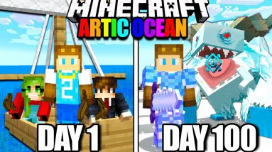 I Survived 100 Days of Hardcore Minecraft in the Artic Ocean!