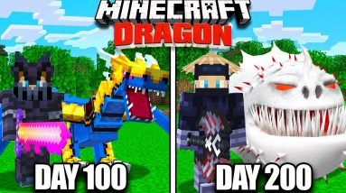 I Survived 200 Days with Dragons in Minecraft!