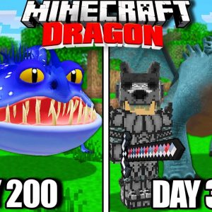 I Survived 300 Days with Dragons in Minecraft!