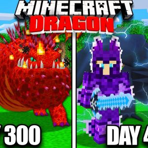 I Survived 400 Days with Dragons in Minecraft!