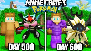 I Survived 600 Days in Minecraft Pokemon!
