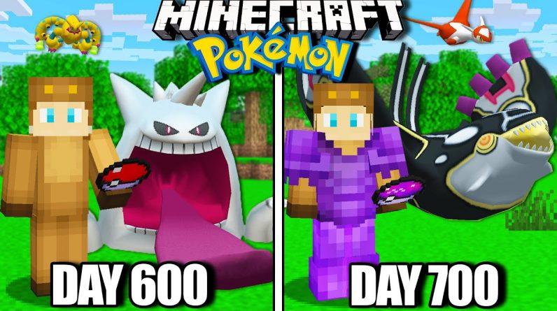 I Survived 700 Days in Minecraft Pokemon!