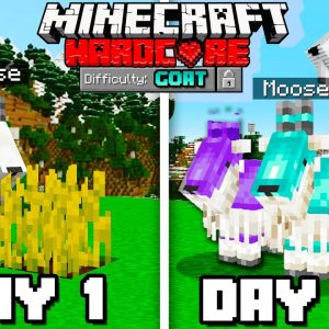 I Survived 100 Days AS A GOAT in Hardcore Minecraft!