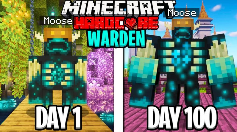 I Survived 100 Days as a WARDEN in Minecraft!