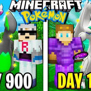 I Survived 1000 Days in Minecraft POKEMON!