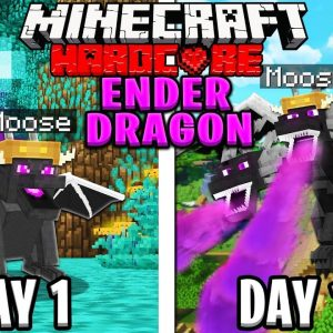 I Survived 100 Days as a ENDER DRAGON in HARDCORE Minecraft!