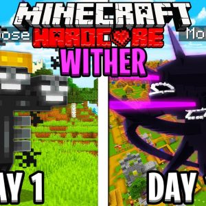 I Survived 100 Days as a WITHER in HARDCORE Minecraft!