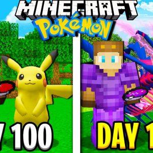 I Survived 1000 Days in Minecraft POKEMON Movie!