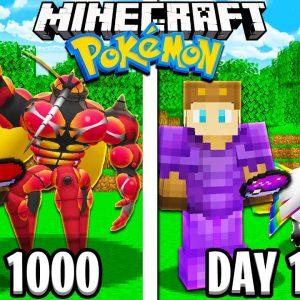 I Survived 1100 Days in Minecraft POKEMON!