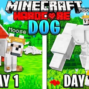 I Survived 100 Days as a DOG in HARDCORE Minecraft!