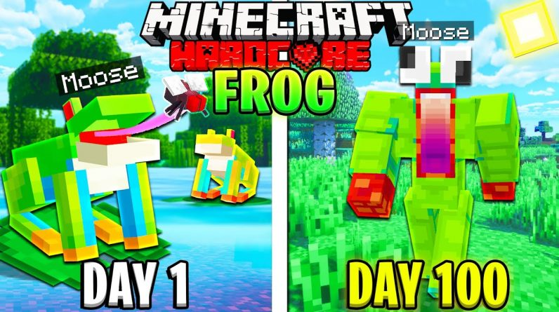 I Survived 100 Days as a FROG in HARDCORE Minecraft!