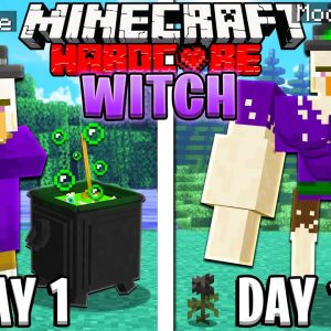 I Survived 100 Days as a WITCH in HARDCORE Minecraft!