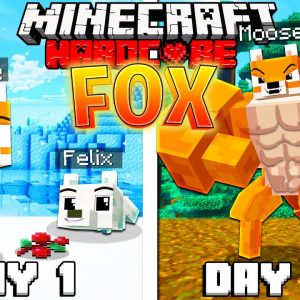 I Survived 100 Days as a FOX in HARDCORE Minecraft!