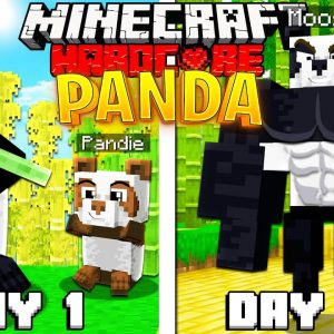 I Survived 100 Days as a PANDA in HARDCORE Minecraft!